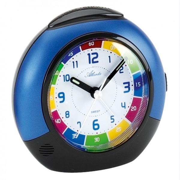 Quarz-Wecker für Kinder in schwarz/blau