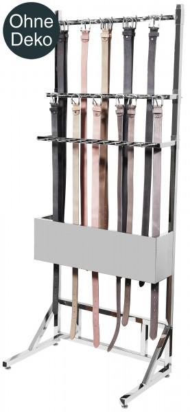 Verkaufsständer für Gürtel aus Edelstahl, Höhe: 1,7m Breite: 65cm