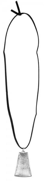 Lederimitat Damen Lederimitatkette, Länge: 80 cm / Stärke: 4 mm