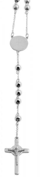 Akzent Edelstahl Unisex Rosenkranzkette, Länge: 64 cm / Stärke: 6 mm