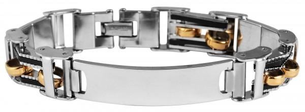 Akzent Armband aus Edelstahl, bicolor