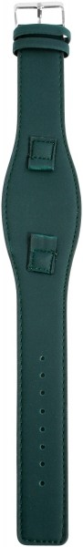Lederimitations-Uhrenarmband, dunkelgrün, 10 mm