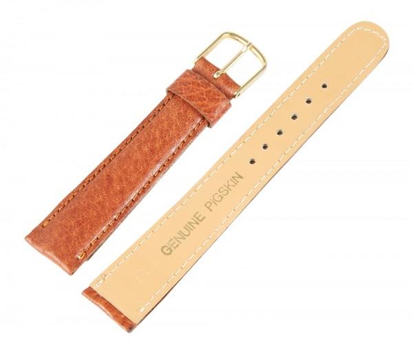 Basic Echtleder Armband in hellbraun, glatt, gepolstert, Dornschließe
