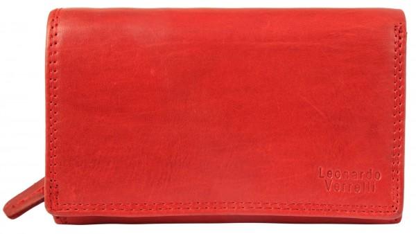 Leonardo Verrelli Damen Geldbörse aus Echtleder mit RFID-Schutz