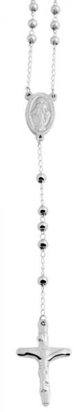 Akzent Edelstahl Unisex Rosenkranzkette, Länge: 60 cm / Stärke: 4 mm