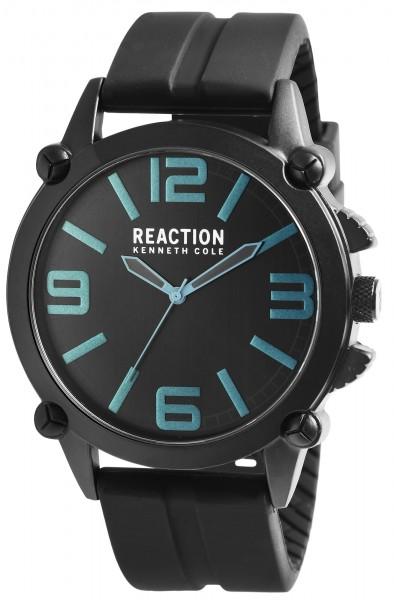 Kenneth Cole Reaction Herrenarmbanduhr, schwarz/blau