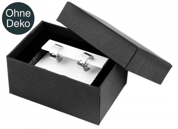 Schmuckbox, Pappe, grau, VE 12, 8 cm x 5 cm x 4 cm