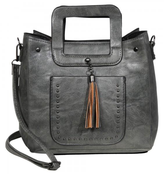 Damen Handtasche aus Lederimitat, Maße: 20,5 x 19 x 10 cm