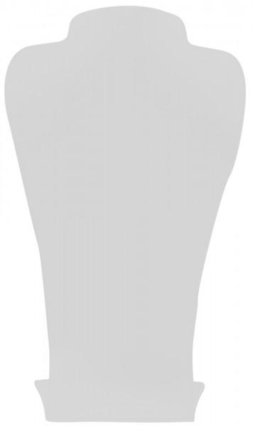 Büste Acryl, weiß, 10 cm x 17,5 cm x 30 cm