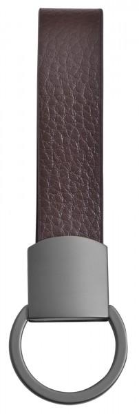 Edelstahl Schlüsselanhänger mit Echt Lederband