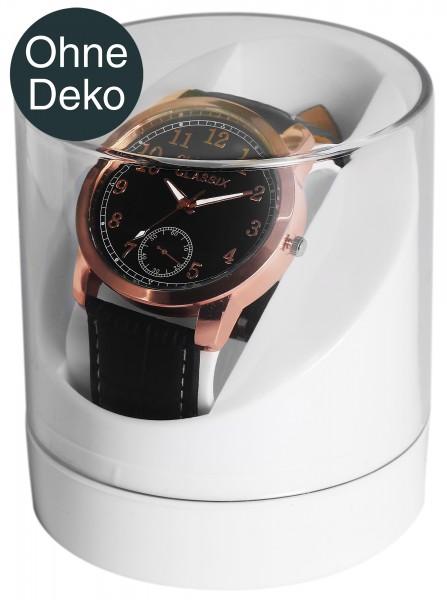 Kunststoff-Uhrenbox, zylindrisch, 8,5 cm x 8,5 cm