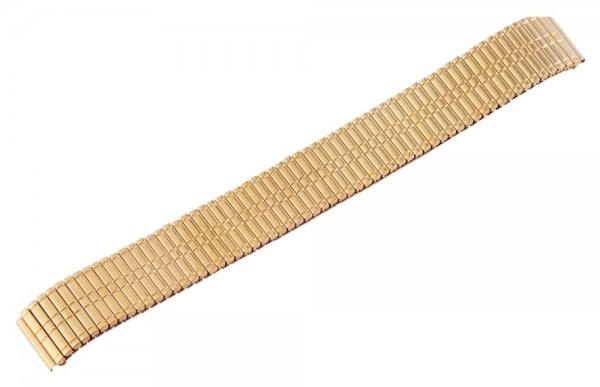 Zugband Metall Armband in gold, poliert, , 16 mm