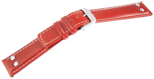 Echtleder-Uhrenarmband, hellbraun, 18 mm - 22 mm