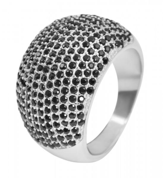 925 Silber Ring, 925/rhodiniert, 8,4g