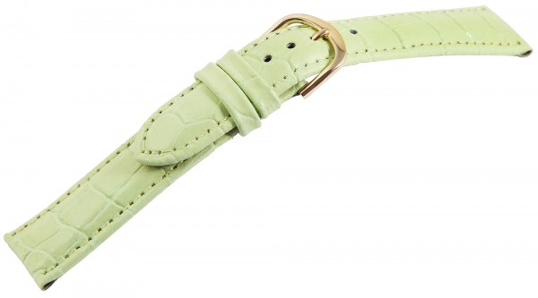 Echtleder-Uhrenarmband, hellgrün, VE 12, 18 mm