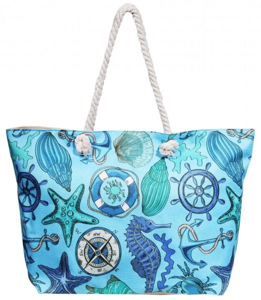 Damen Handtasche aus Textil, Maße: 58x36x15cm