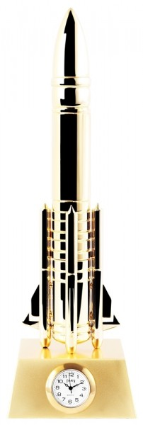 Dawn Miniaturuhr - Rakete - Größe 20,5 cm