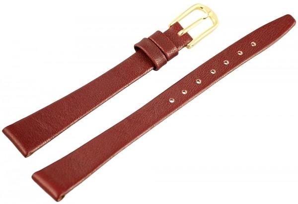 Basic Echtleder Armband in dunkelblau, genarbt, flach