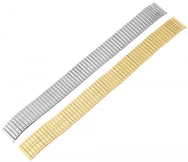 Metall-Zugarmbänder, silber- und goldfarben, VE 12, 14 mm