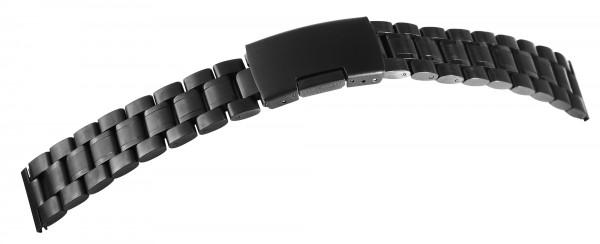 Gliederband Edelstahl Armband in schwarz poliert