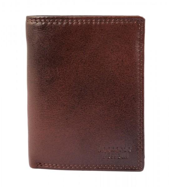Leonardo Verrelli Herren Geldbörse aus Echtleder mit RFID-Schutz