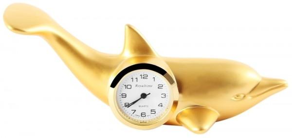 Miniaturuhr - Delfin - Größe 9,8 cm