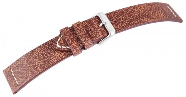 Basic Echtleder Armband in braun, genarbt, flach