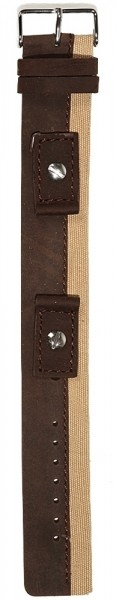Hochwertiges Echt-Lederband, braun/beige, Gr. 14, 16, 18