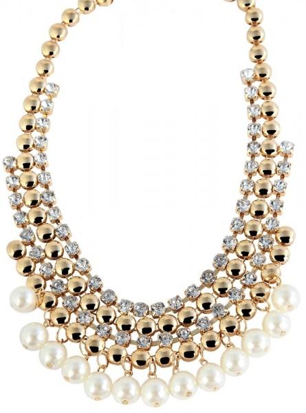 Kunststoff Damen Halskette, Länge: 45 cm / Stärke: 0 mm