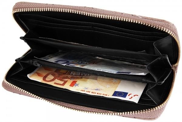 Cham Cham Damen Geldbörse aus Lederimitat. Format 19 x 10 cm.