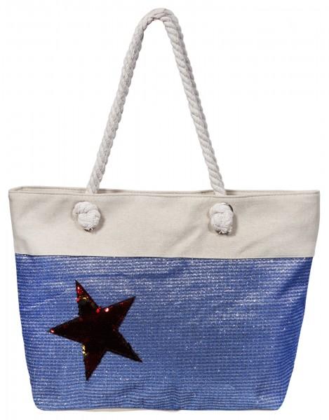 Damen Handtasche aus Textil, 46x32x13cm