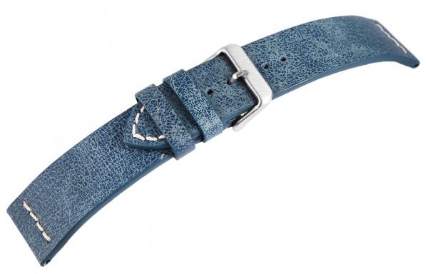 Basic Echtleder Armband in lachsfarbend, genarbt, flach