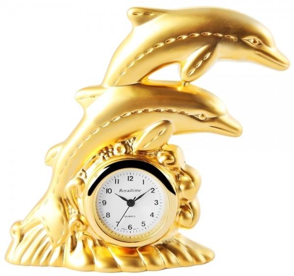 Royaltime Miniaturuhr - Delfine - Größe 7,1 cm