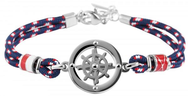 Akzent Armband aus Textil und Edelstahl