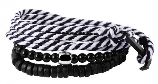 Wickelarmband aus Textil und Kunststoff