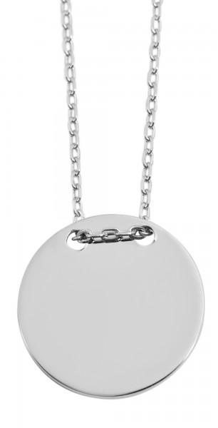 925 Silber Halskette, 43+5cm, 925/rhodiniert, 3,4g