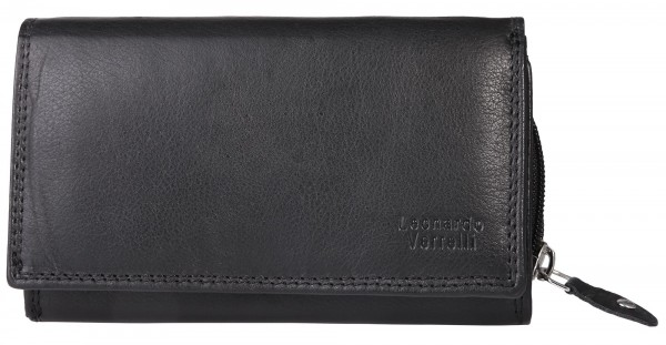 Leonardo Verrelli Damen Geldbörse aus Echtleder, RFID