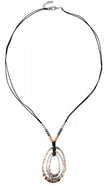Lederimitat Damen Halskette, Länge: 80 cm / Stärke: 3 mm