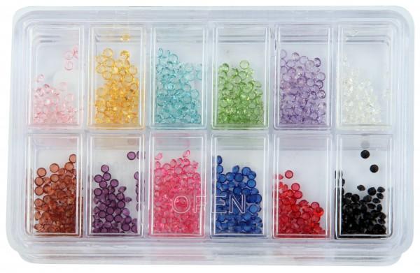 Ersatz Glassteine, 12 Farben im Set