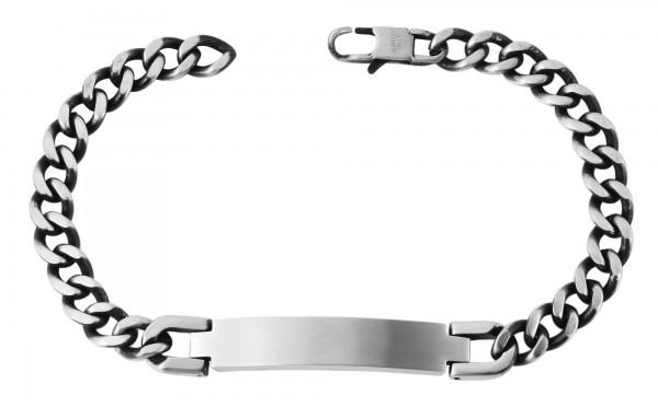 Edelstahl Armband, Länge: 20,5 cm