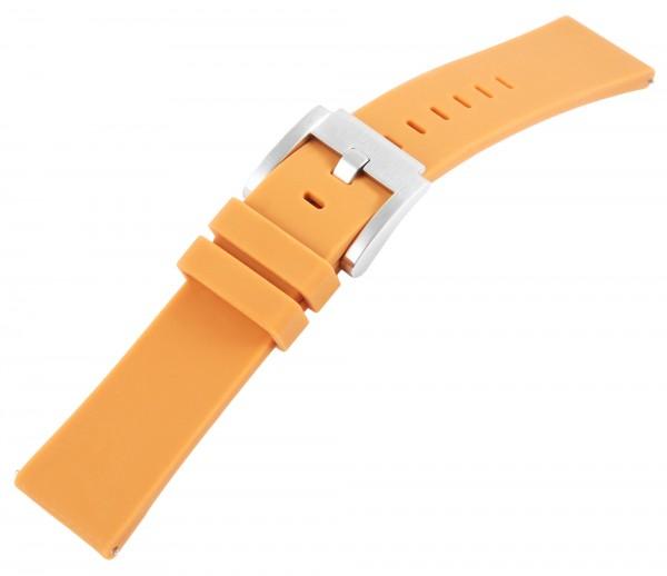 TW Steel Silikon-Uhrenarmband, orange, Dornschließe, 22 mm