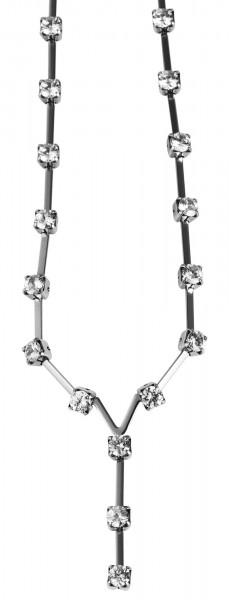 Akzent Edelstahl Damen Halskette, Länge: 40 cm / Stärke: 4 mm
