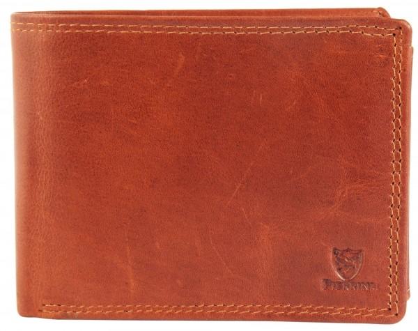 Pierrini Herren Geldbörse aus Echtleder. Format 12 x 9 cm.