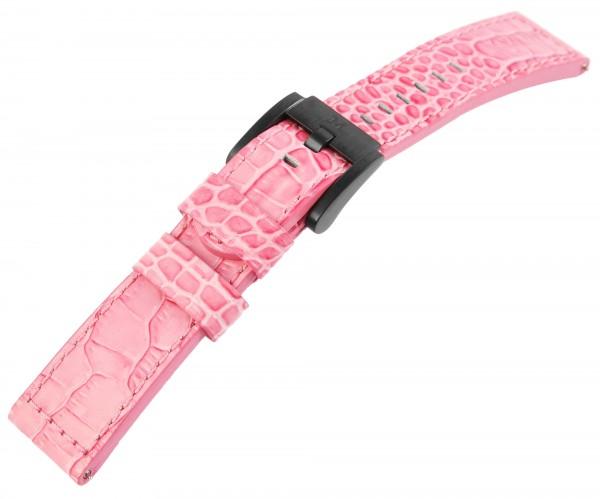 TW-Steel Echtleder-Uhrenarmband, rosa, 22 mm
