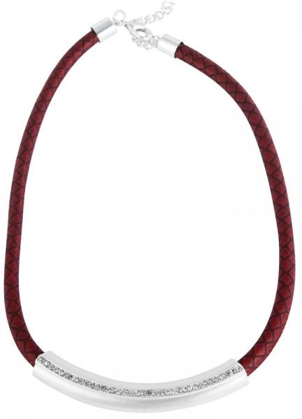 Echtleder Damen Lederkette, Länge: 42 cm / Stärke: 5 mm