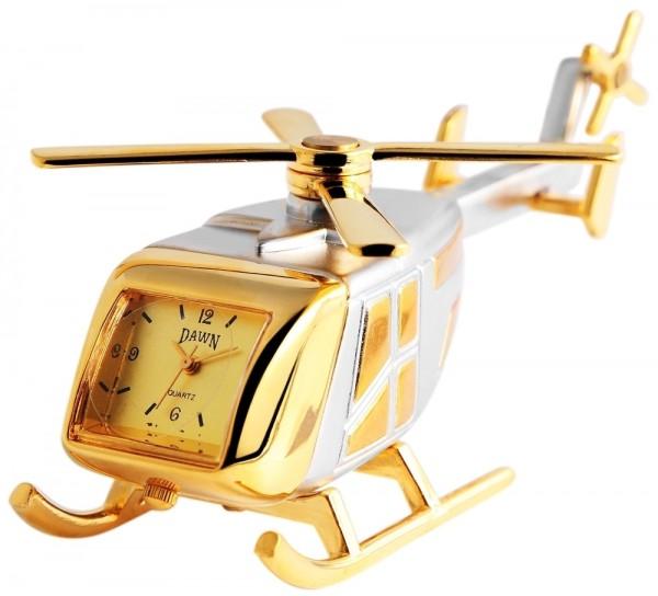 Dawn Miniaturuhr - Hubschrauber - Größe 9,0 cm