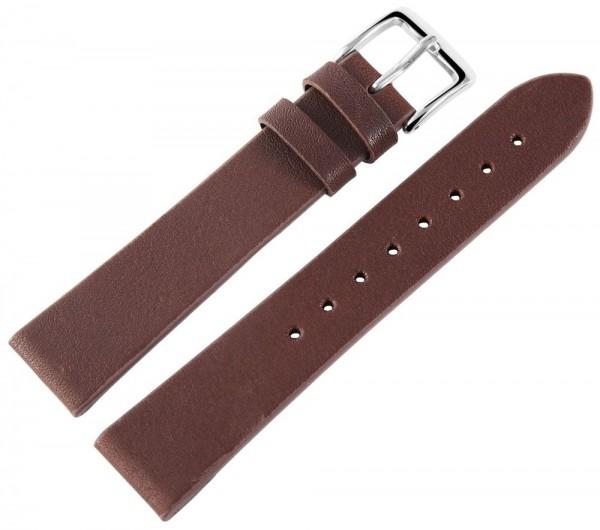 Basic Echtleder Armband, glatt, flach, Dornschließe