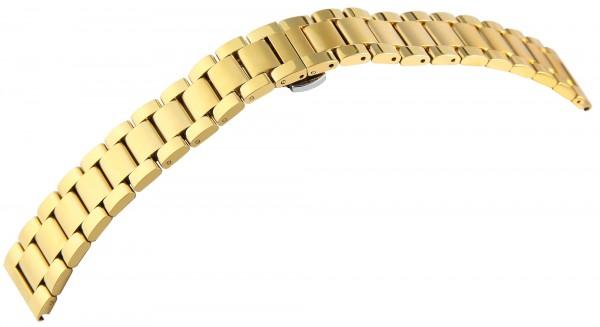 Uhrenarmband aus Edelstahl, massiv, IPG plattiert,