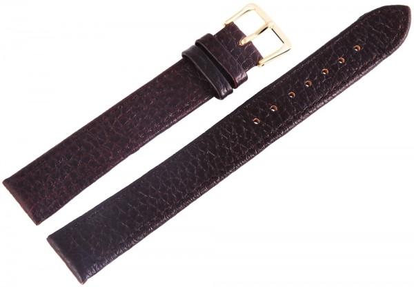 Basic Echtleder Armband in dunkelbraun Kroko flach