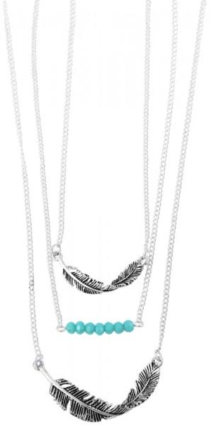 Metall Damen Ankerkette, Länge: 60 cm / Stärke: 1 mm
